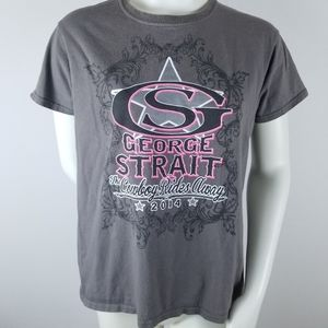 George Strait 2014 Band Graphic Tee Concert Cowboy